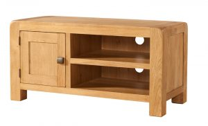 Avon Waxed Oak Standard 1 Door TV Unit | Fully Assembled