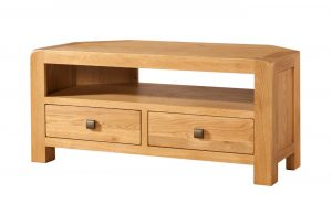 Avon Waxed Oak 2 Door Corner TV Unit | Fully Assembled