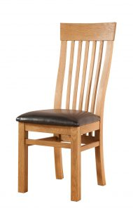 Avon Waxed Oak Curved Back Dining Chair (Pair) | Fully Assembled