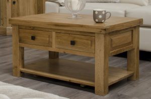 Homestyle Deluxe Solid Oak 3′ x 2′ Coffee Table | Fully Assembled