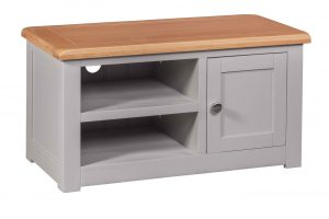 Homestyle Diamond Painted Grey 1 Door TV Cabinet | Fully Assembled