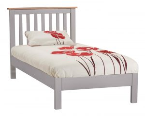 Homestyle Diamond Painted Grey 3′ Single Bed