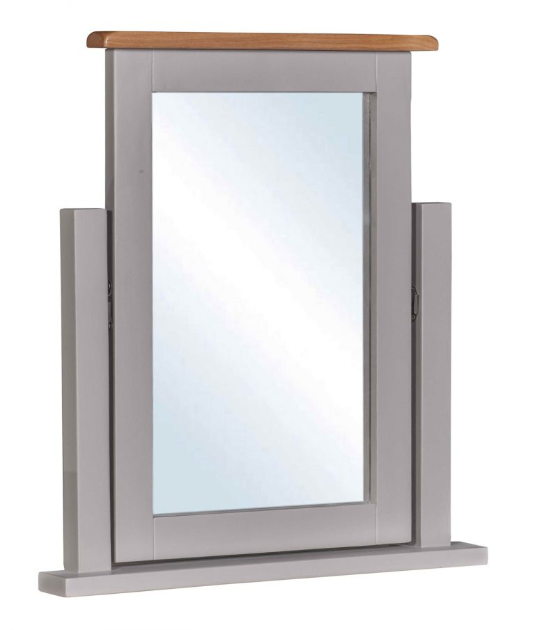 Homestyle Diamond Painted Grey Dressing Table Mirror