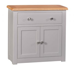 Homestyle Diamond Painted Grey 1 Drawer & 2 Doors Occasional Sideboard | Fully Assembled