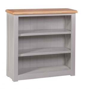 Homestyle Diamond Painted Grey Grey Small Bookcase | Fully Assembled