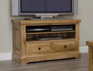 Homestyle Deluxe Solid Oak 2 Drawer TV Unit | Fully Assembled