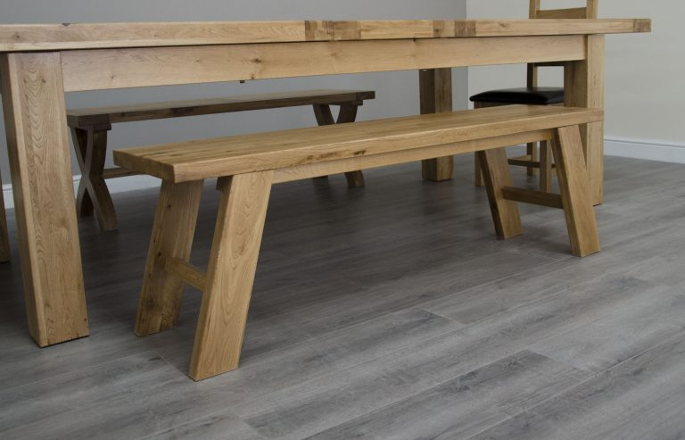 Homestyle Deluxe Solid Oak Standard Dining Bench