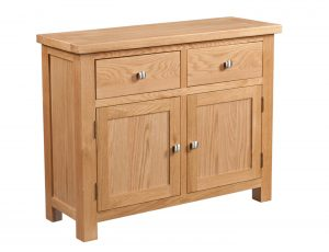 Devonshire Dorset Oak 2 Door, 2 Drawer Sideboard | Fully Assembled