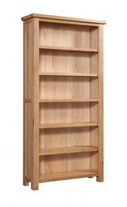 Devonshire Dorset Oak 6′ Bookcase With 5 Shelves | Fully Assembled