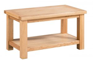 Devonshire Dorset Oak Small Coffee Table with Shelf