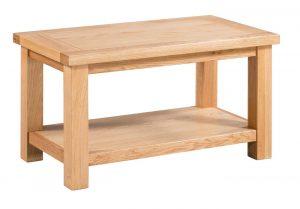 Devonshire Dorset Oak Small Coffee Table with Shelf