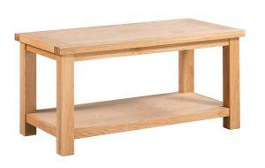 Devonshire Dorset Oak Large Coffee Table with Shelf