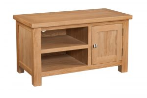 Devonshire Dorset Oak 1 Door Standard TV Unit | Fully Assembled