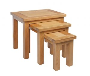 Devonshire Dorset Oak Nest of Tables | Fully Assembled