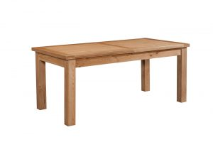 Devonshire Dorset Oak 1.2M-1.53M Small 1 Leaf Extending Dining Table