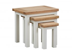 Devonshire Dorset Painted Ivory Nest of Tables | Fully Assembled