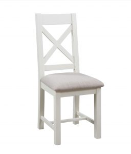 Devonshire Dorset Painted Ivory Cross Back Chair (Pair) | Fully Assembled