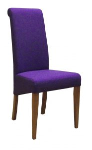 Devonshire Purple Fabric Dining Chair (Pair)