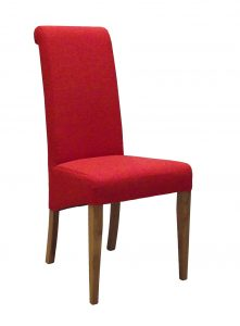 Devonshire Dark Orange Fabric Dining Chair (Pair)