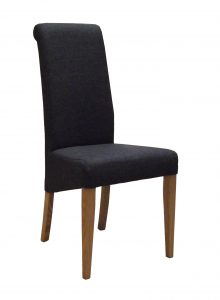 Devonshire Charcoal Fabric Dining Chair (Pair)