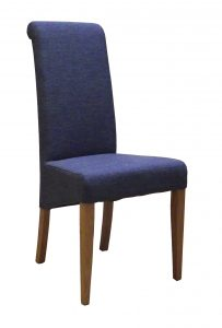Devonshire Blue Fabric Dining Chair (Pair)