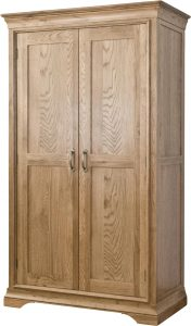 Normandy French Solid Oak Full Length Wardrobe