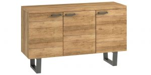 Classic Fusion Industrial Oak 3 Door Sideboard