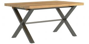 Classic Fusion Industrial Oak Small 1.5 Dining Table – Reduced – Was £465