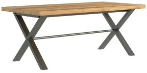 Classic Fusion Industrial Oak Large 1.9m Dining Table – Reduced – Was £535