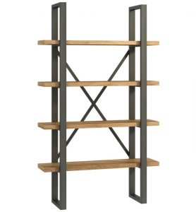 Classic Fusion Industrial Oak Shelf Unit