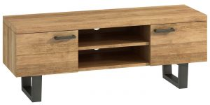 Classic Fusion Industrial Oak 2 Door TV Unit