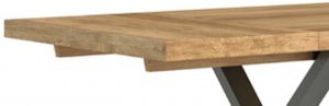 Fusion Industrial Oak Dining Table Extension Leaf