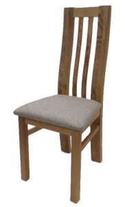 Suffolk Solid Oak Oslo Dining Chair (Pair) | Fully Assembled
