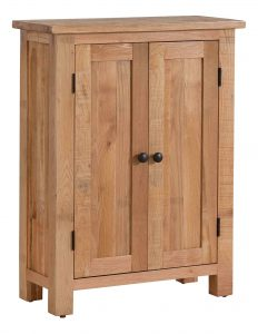 Besp-Oak Vancouver Sawn Oak Small Sideboard with 2 Doors | Fully Assembled