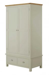 Classic Portland Painted Stone Gents Wardrobe