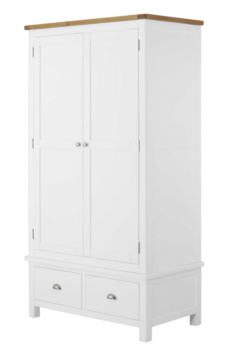 Classic Portland Painted White Gents Wardrobe