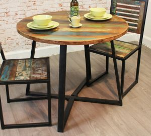 Baumhaus Urban Chic Round Dining Table  (100cm x 100cm)