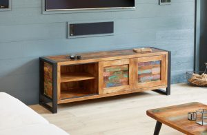 Baumhaus Urban Chic Widescreen Television Cabinet | Fully Assembled