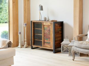 Baumhaus Urban Chic Home Storage Cupboard | Fully Assembled