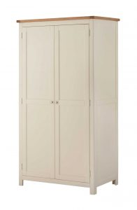 Classic Portland Painted Cream 2 Door Wardrobe