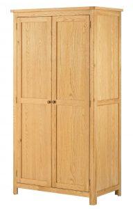 Classic Portland Oak 2 Door Wardrobe