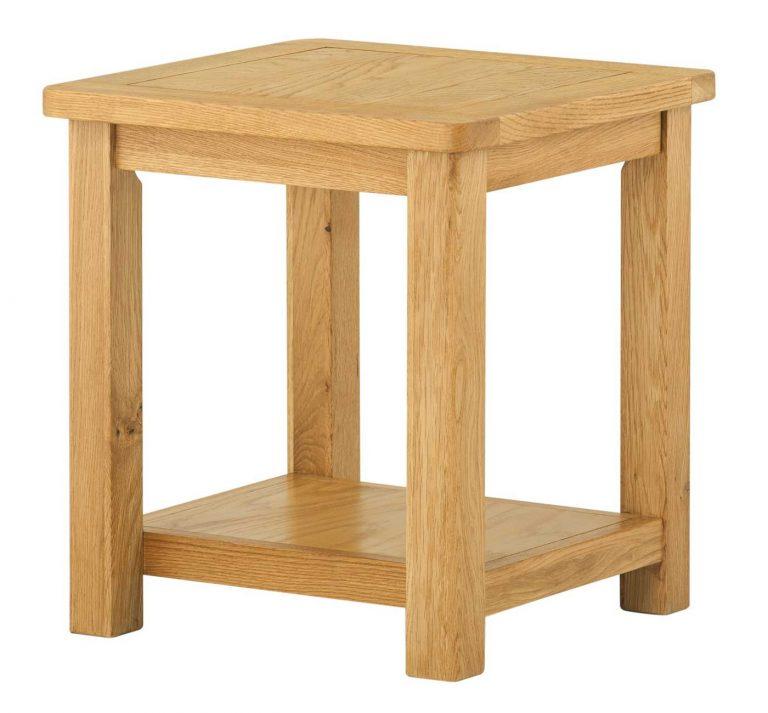 Classic Portland Oak Lamp Table   Fully Assembled