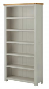 Classic Portland Painted Stone Large Bookcase