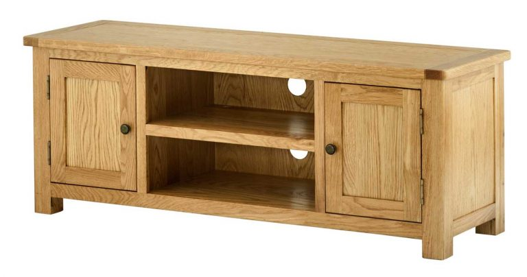 Classic Portland Oak Large TV Cabinet