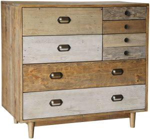 Classic Loft Reclaimed Pine 7 Drawer Chest