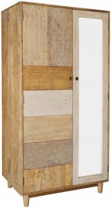 Classic Loft Reclaimed Pine 2 Door Double Wardrobe