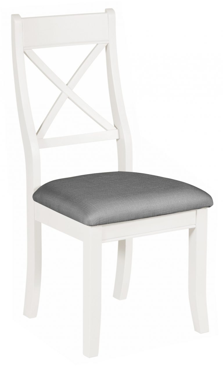 Classic Lily Painted White Bedroom Chair