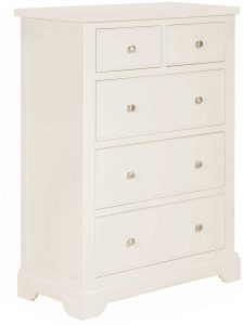 Classic Lily Painted White 2 over 3 Chest of Drawers | Fully Assembled