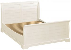 Classic Lily Painted White 4'6″ Double Sleigh Bed