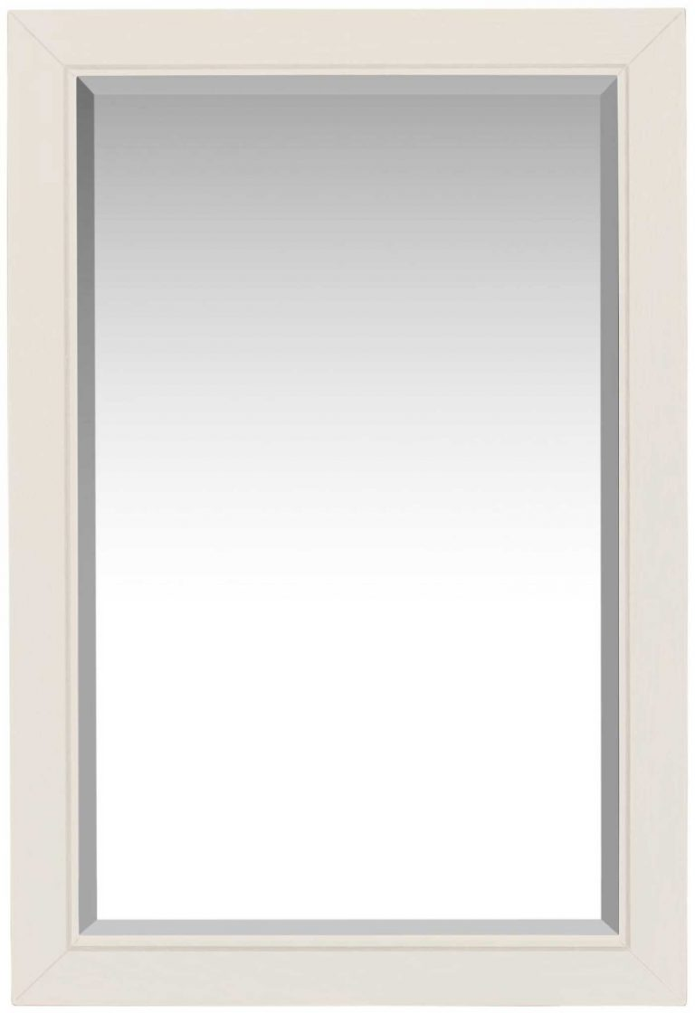 Classic Lily Painted White Wall Mirror